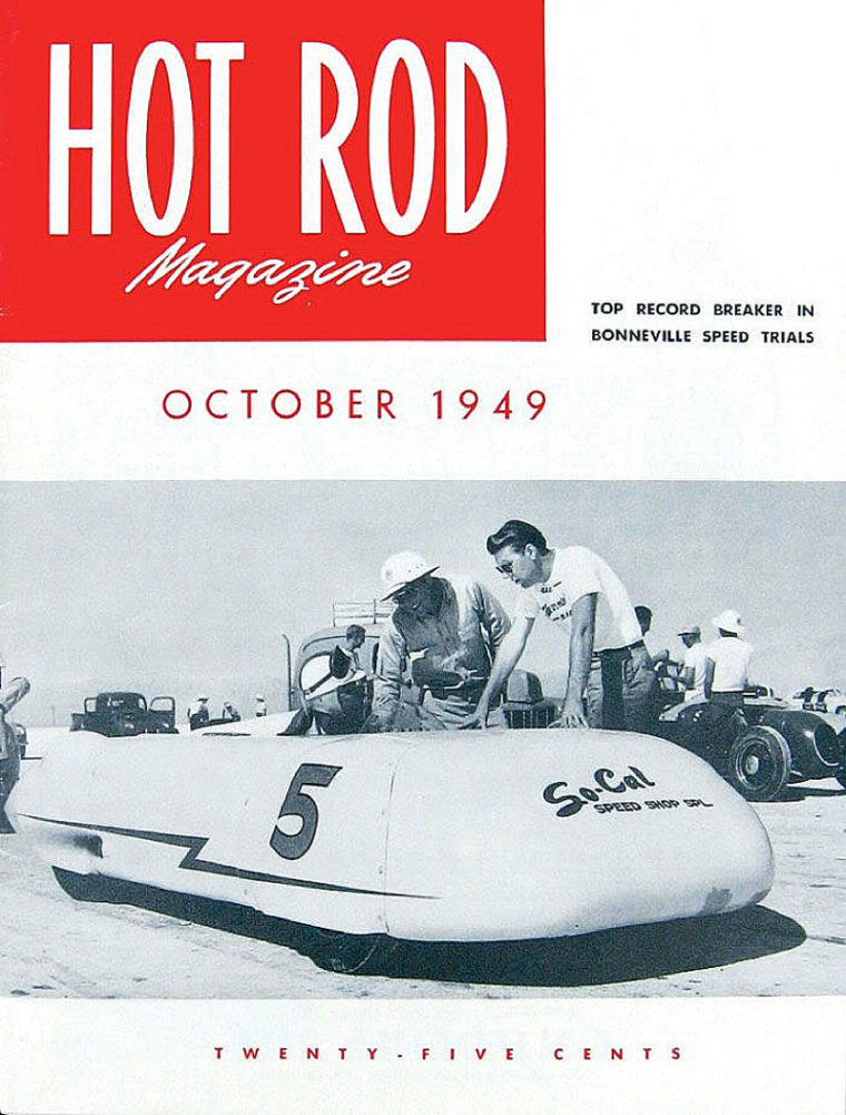 October, 1949 Cover of Hot Rod Magazine