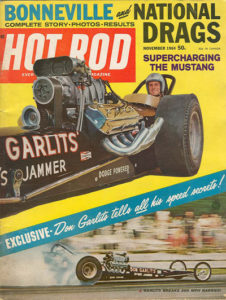 Nov 1964 Cove of Hot Rod Magazine featuring Don Garlits - Dragster race driver
