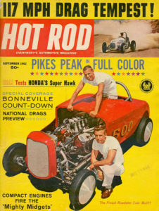 Cover of Hot Rod Magazine, September, 1962