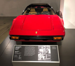 Head on view of the '82 308 GTSi Ferrari used in the TV show, Magnum PI